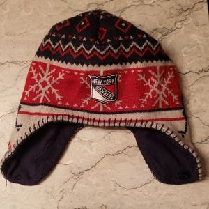 New York Rangers kids knit hat